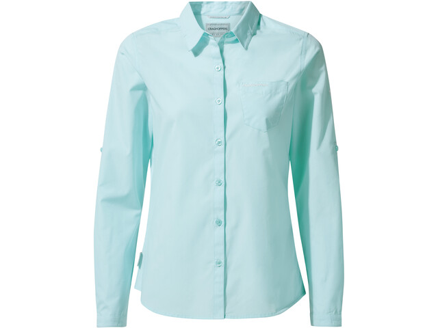 Craghoppers Kiwi Langarmhemd Damen capri blue